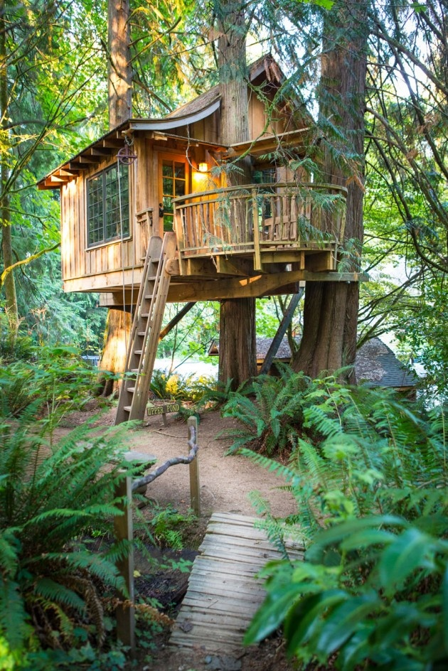 Treehouse Point, a treehouse bed and breakfast owned by Pete and Judy Nelson in Issaquah, WA. Photos by Adam Crowley.
