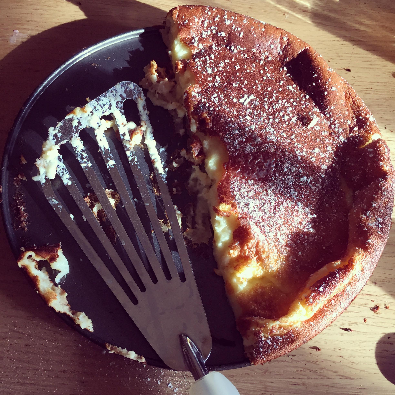 Zondagochtend maakte ik deze pannenkoek. Het smaakte oke, maar uiteindelijk bleek dat ik het helemaal verkeerd had gedaan!