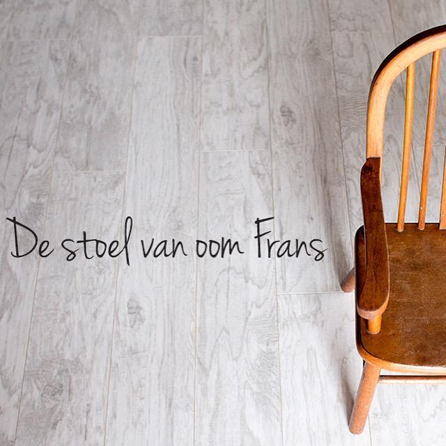 De stoel van oom Frans. Oom Frans heeft een mooi plekje in ons hart gekregen.