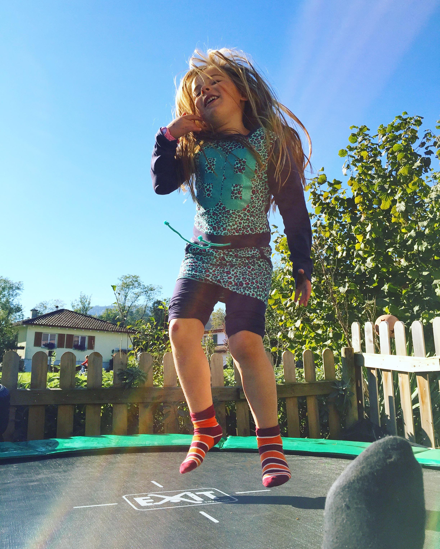 Dinsdag begon natuurlijk weer op de trampoline