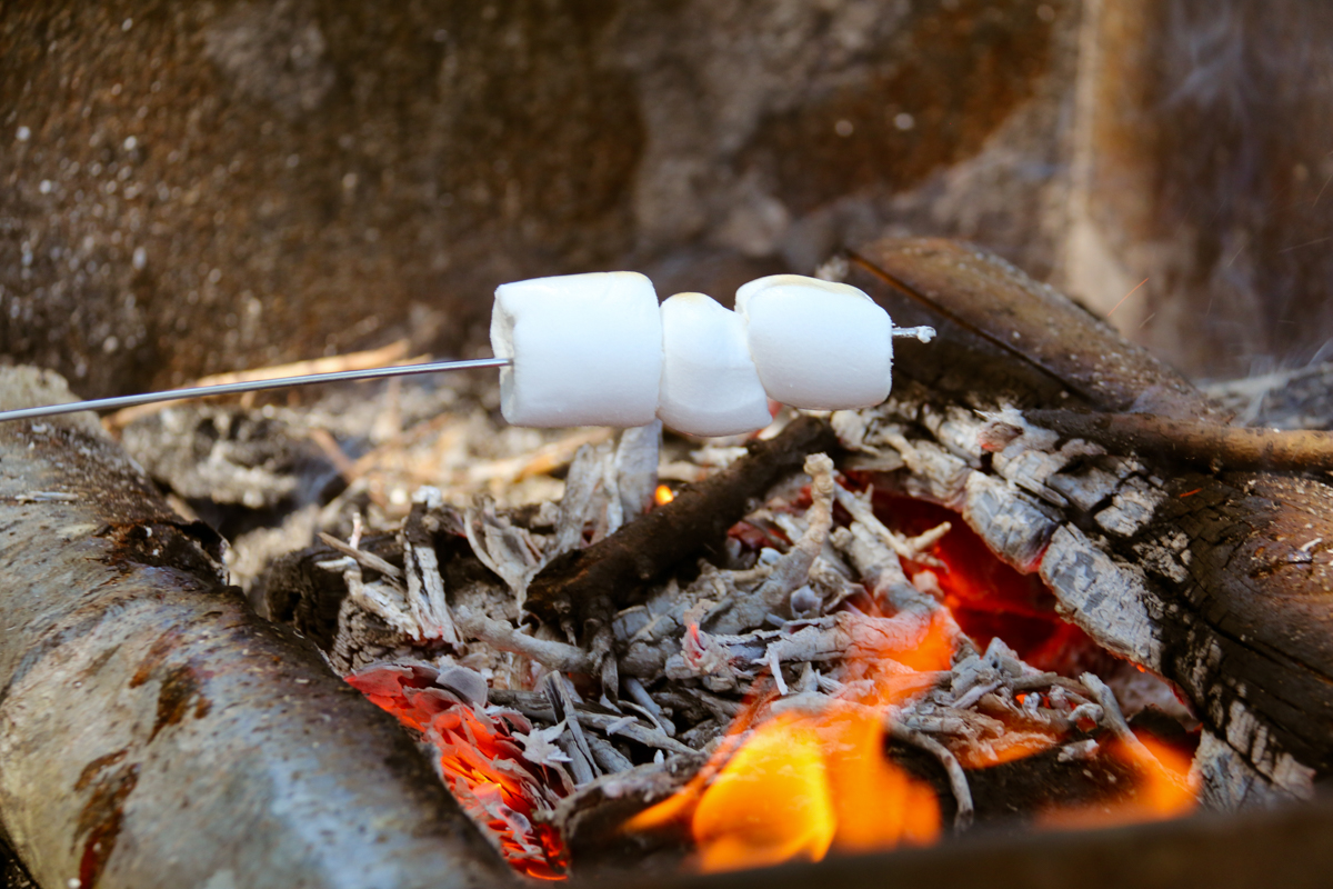 Na de worst, moesten er natuurlijk marshmallows gemaakt worden