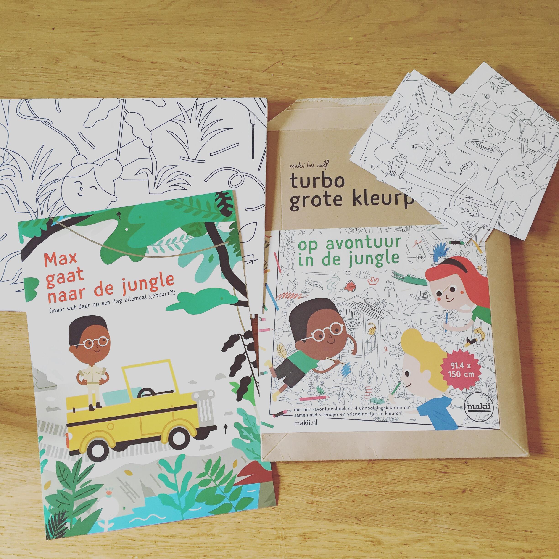 We kregen het pakket van Makii.nl binnen, nu kunnen we Eva's verjaardag gaan plannen!