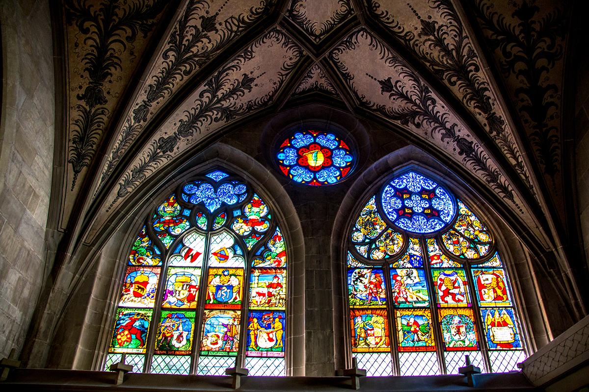 De Kathedraal van Münster, je mocht er dus geen foto's maken. Jammer! Deze foto is wel een toffe. Ssst. Niet verder vertellen.