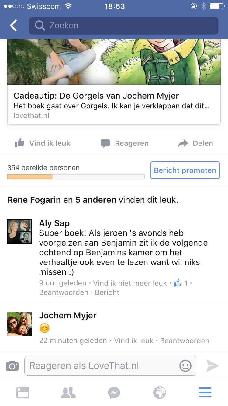 Vrijdag gaat het artikel van Sinterklaas ergens viraal en krijg ik een hele hoop bezoekers via Facebook binnen. Tof! Maar dat Jochem Myjer mijn blog heeft gelezen of gezien, dat vind ik nou ook echt leuk!