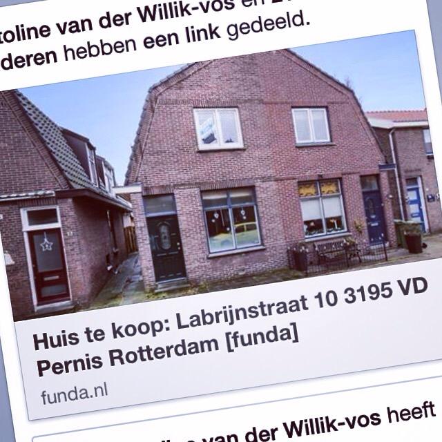 Donderdagavond kom ik erachter dat ons huis in Nederland op Funda staat!