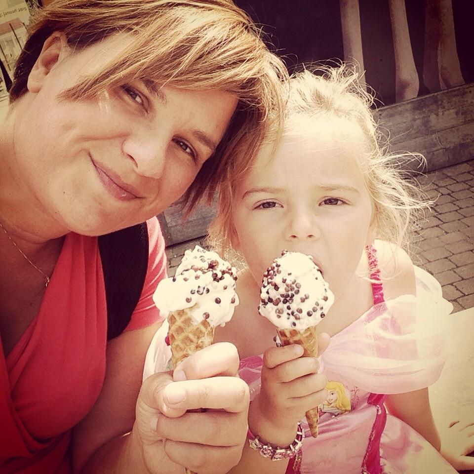 Aan het eind van ons bezoek hadden we wel een ijsje verdiend!