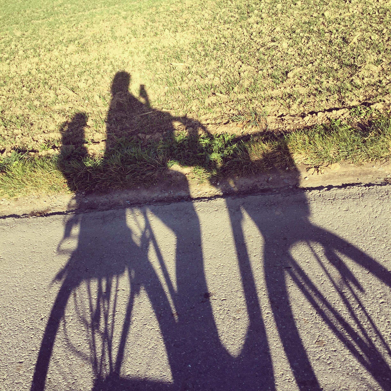 We gaan nog even boodschappen doen, een goede reden om de fiets weer even uit de garage te halen.