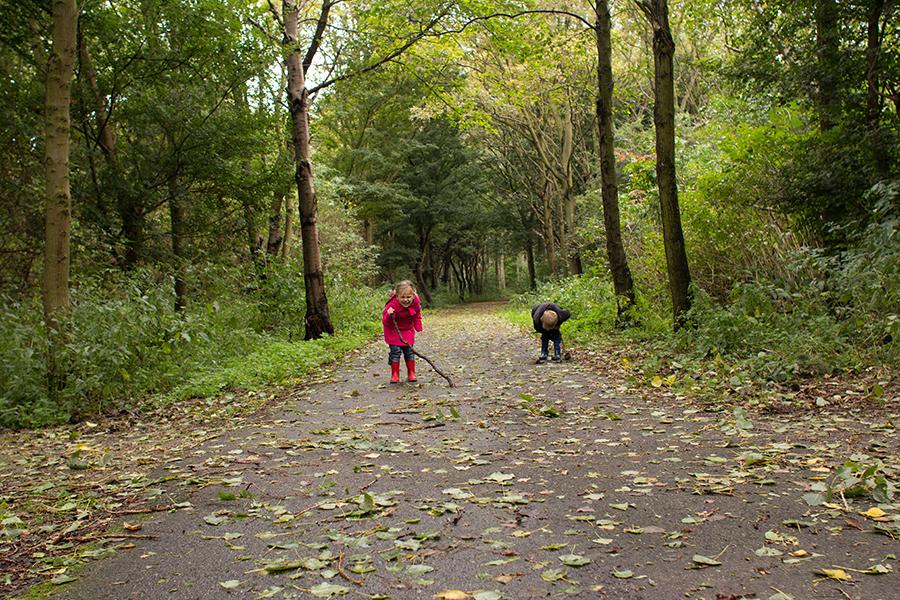 En gingen we naar het bos!