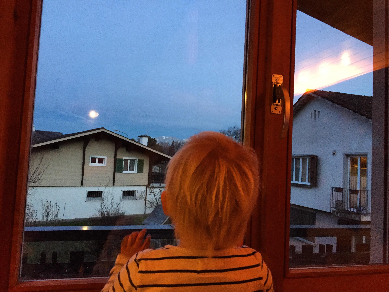 Elke avond vaste prik: waar is de maan? Vandaag is hij wel erg groot.