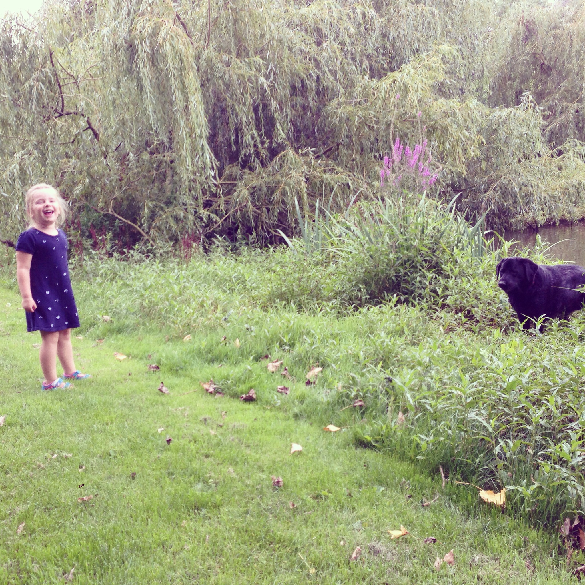 Na de lunch en een dut van Liza gingen we naar het Vondelpark met hond Saar en oom Frans