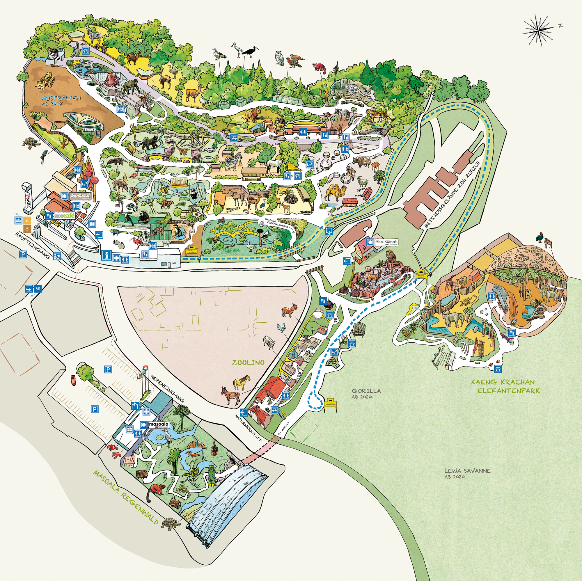Plattegrond Zoo Zürich