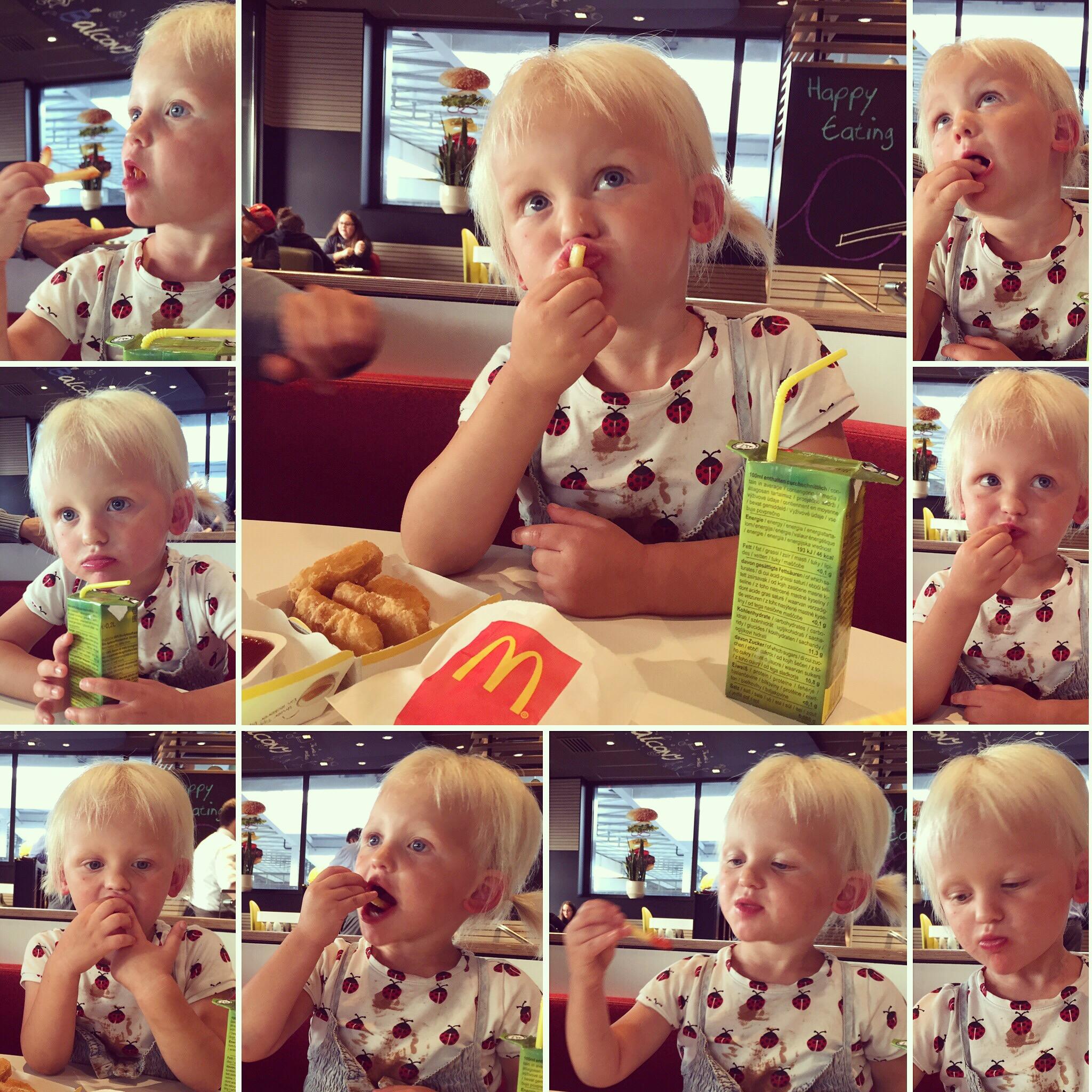 We eindigen onze dag bij de McDonalds