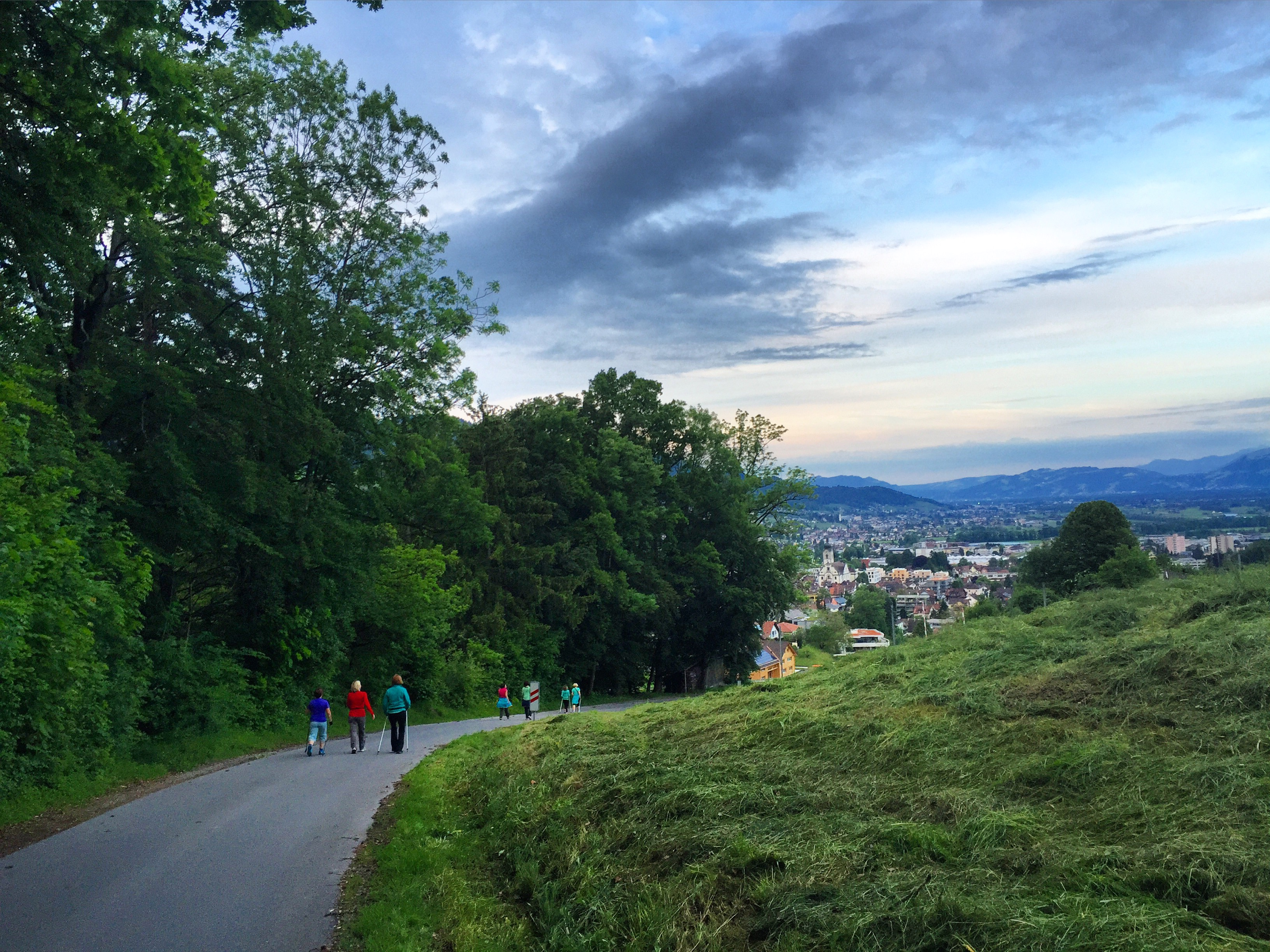 Woensdagavond ga ik weer aan de wandelen en geniet ik van het uitzicht