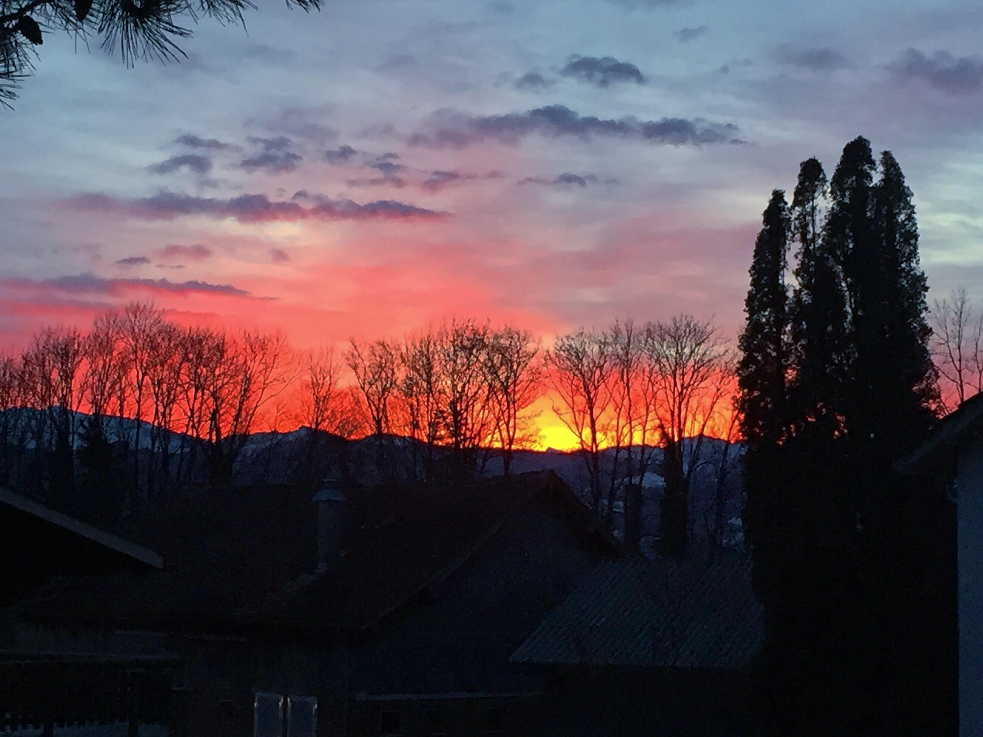 Donderdagochtend ving ik een mooie zonsopkomst