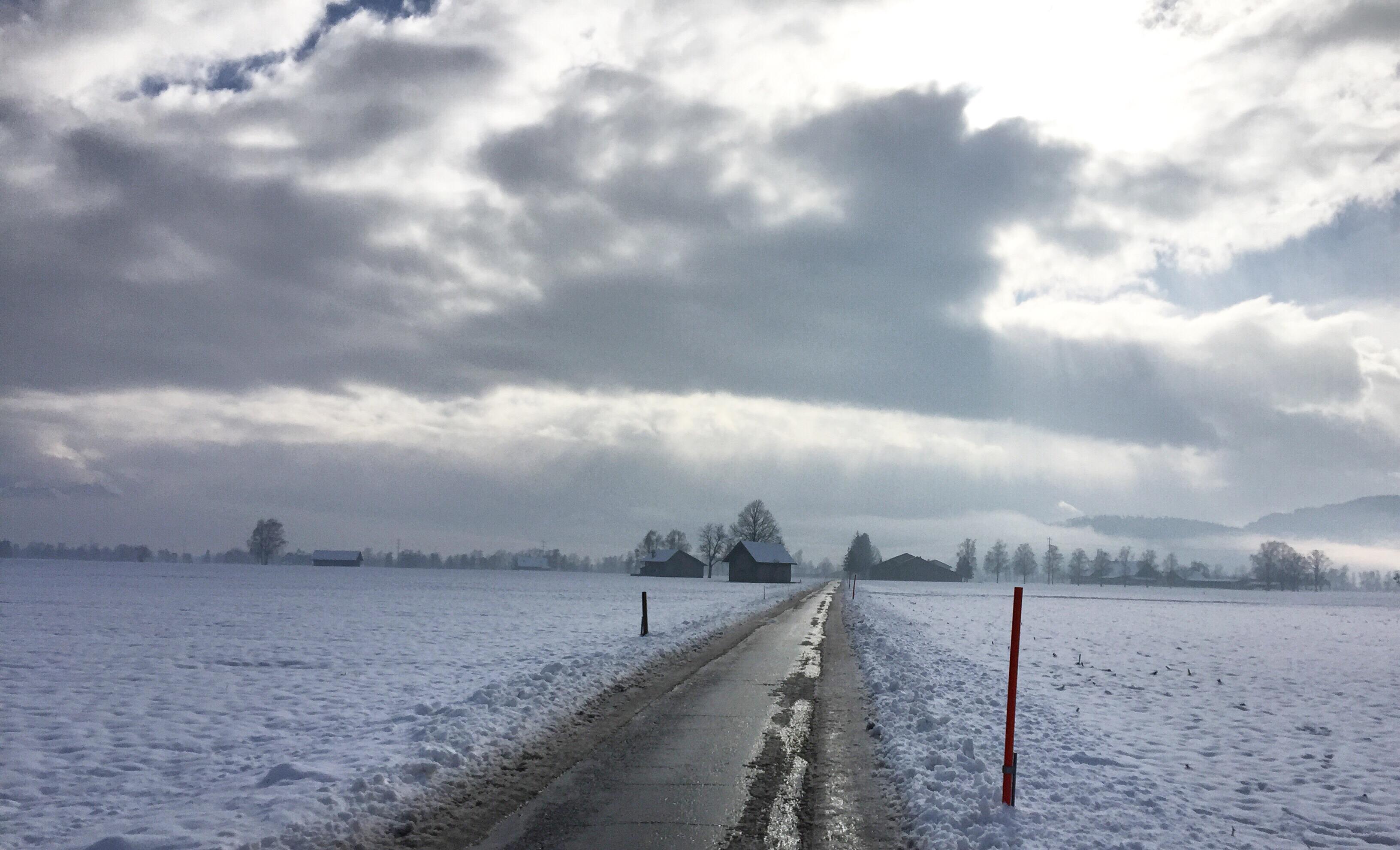 De sneeuw verdwijnt