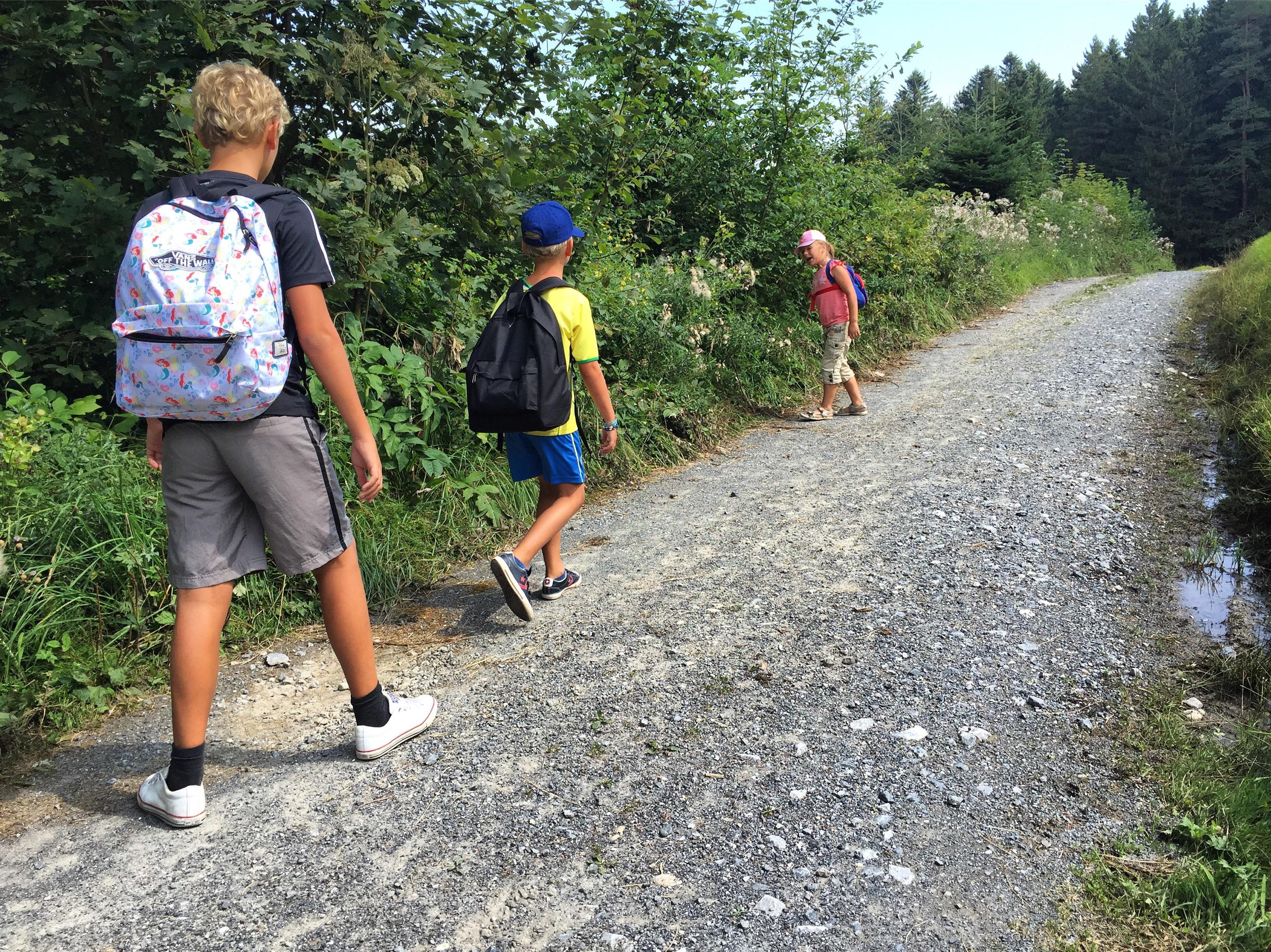 Gelukkig liepen Eva en de jongens wel.