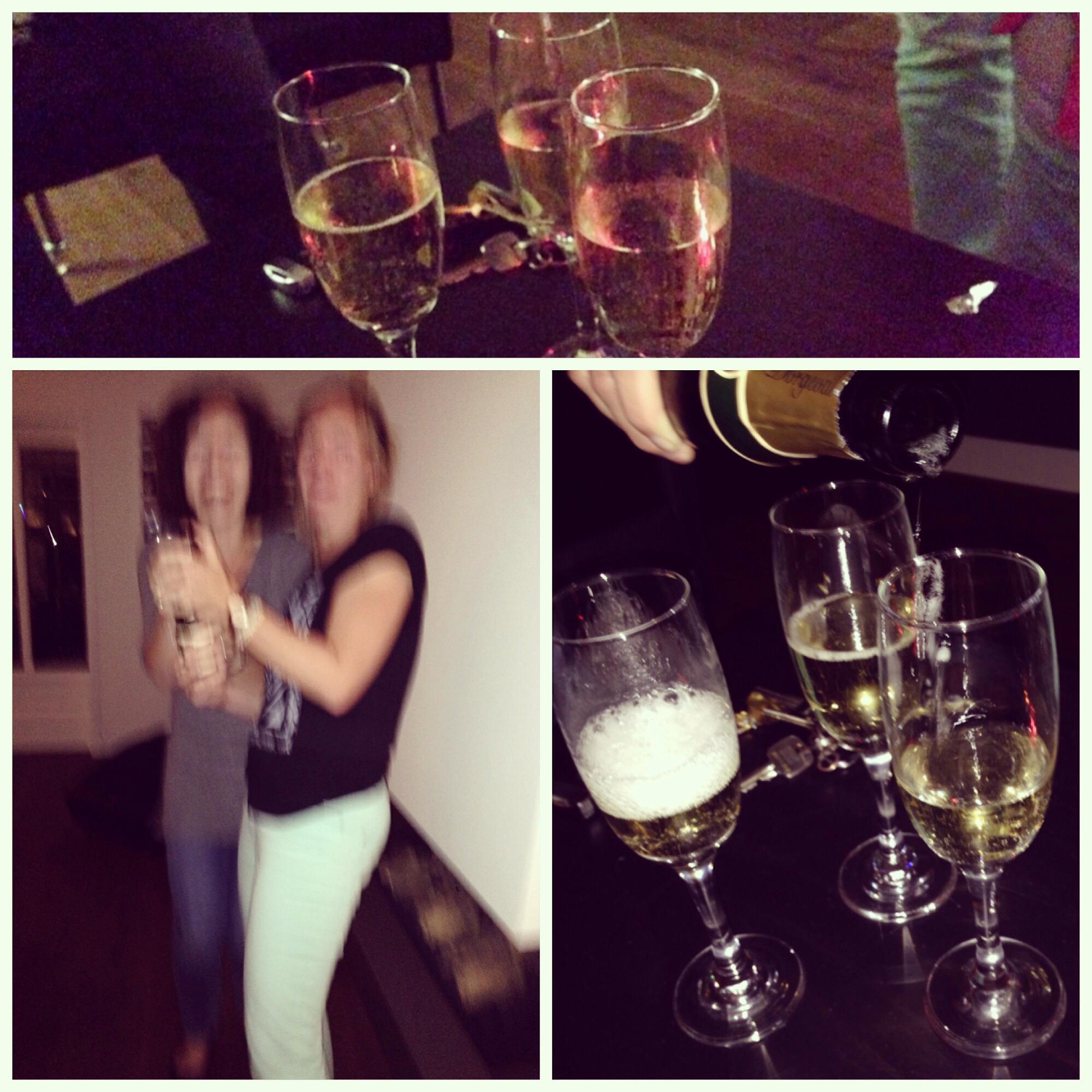 En er zijn natuurlijk ook momenten van afscheid nemen. Een laatste meidenavondje met uiteraard champagne. Om 2 uur was ik weer thuis. Fijne avondjes zijn dit.