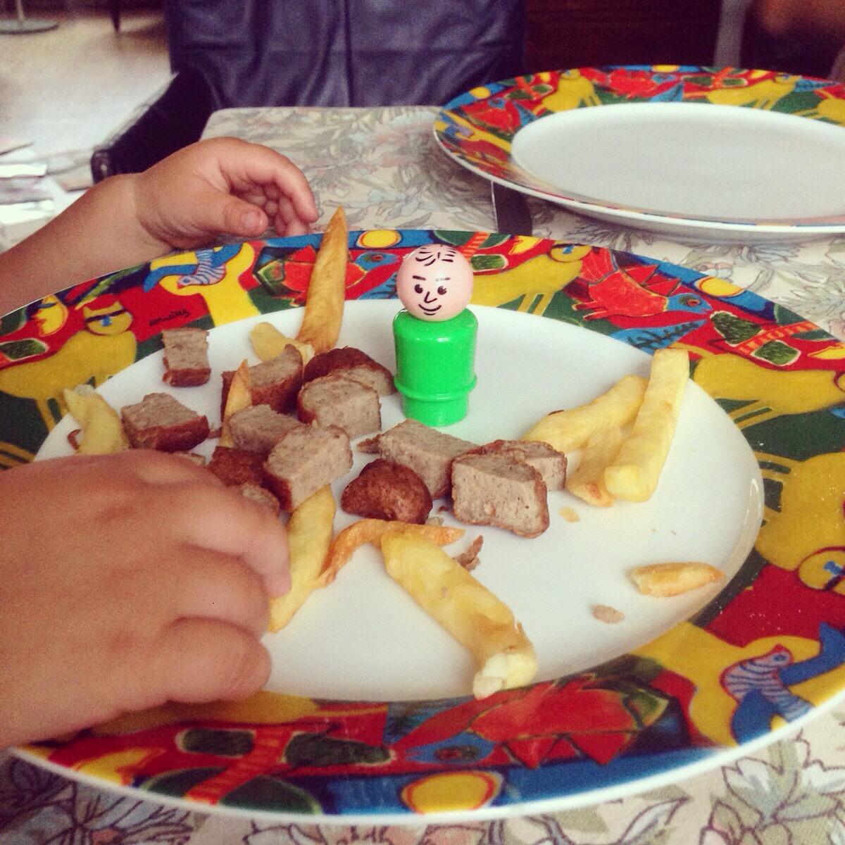 En dit was het eten van de kinderen. Ook lekker!