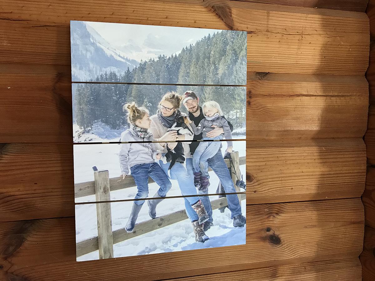 foto op hout via albelli.nl