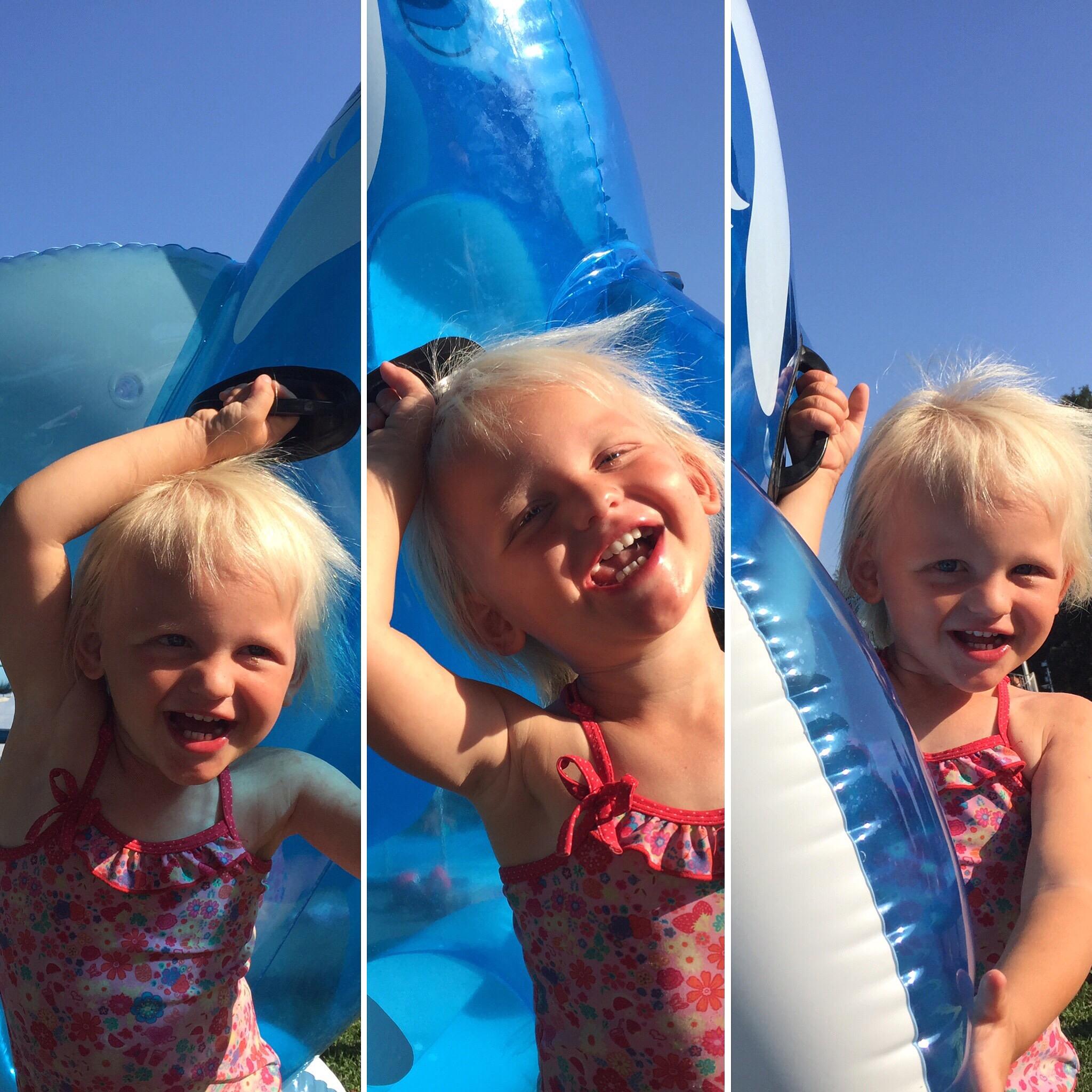Het werd een hele gezellige, lange middag met superlieve kinderen, fantastisch weer en warm zwemwater